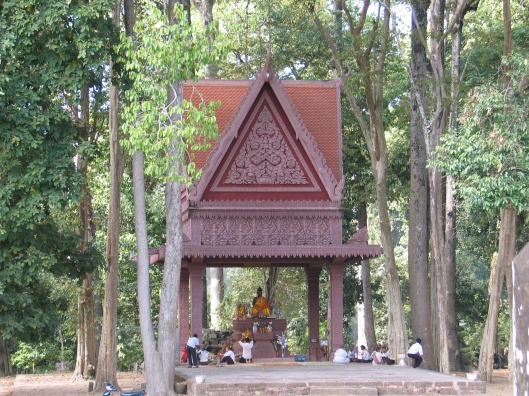 A forest temple in Cambodia.
