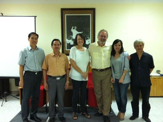 Meeting a new leadership team:  Nguyen Minh Anh, Le Van Toan, Hai Van and Nguyen Chi Nguyen