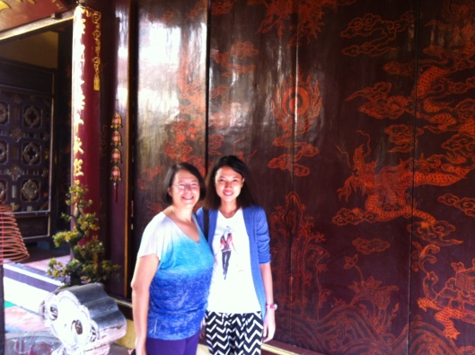 Jan & Nguyen Ling Chi at the White Horse Temple.