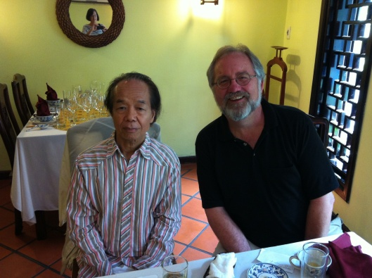 Sharing ideas and hopes with Nguyen Thien Dao.