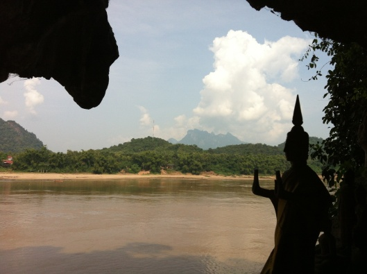 The Mekong River from the Pak Ou Caves.