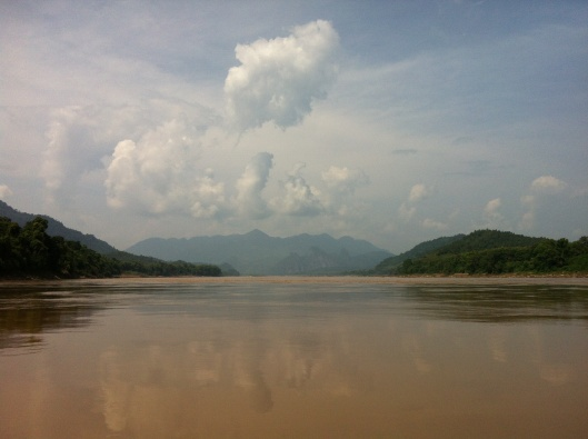 Toward the Pak Ou Caves on the Mekong.