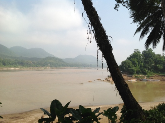 The meeting of the Nam Khan and Mekong Rivers in Luang Prabang.