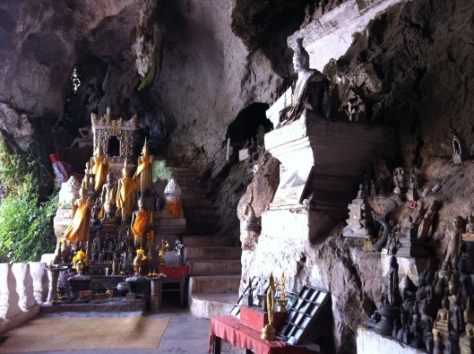 The Buddhas of the Pak Ou Caves.