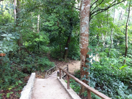 The trailhead to the Kuang Si Falls.