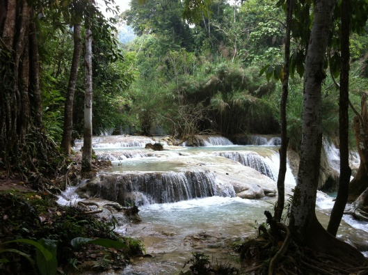 More cooling falls at Kuang Si.