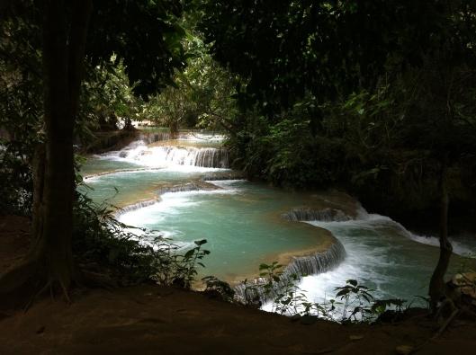 A terrace of waterfalls.
