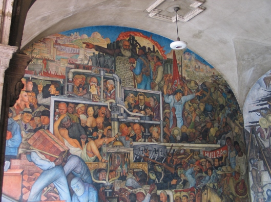 A Diego Rivera mural in Mexico City.