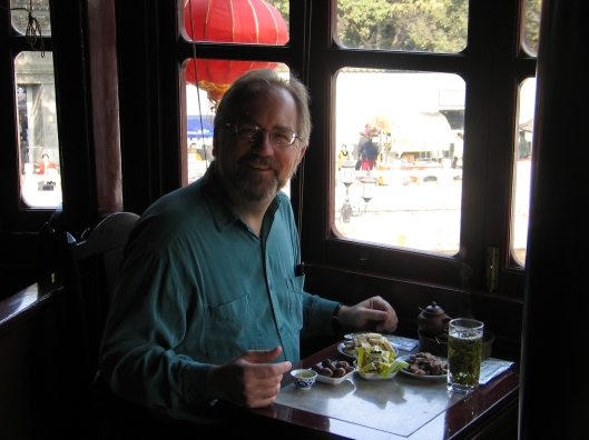 At the Huxingting Tea House in Shanghai, 2007.