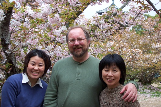 After my first tea ceremony in Kyoto with Natsu and Mitsuyo Matsumoto.