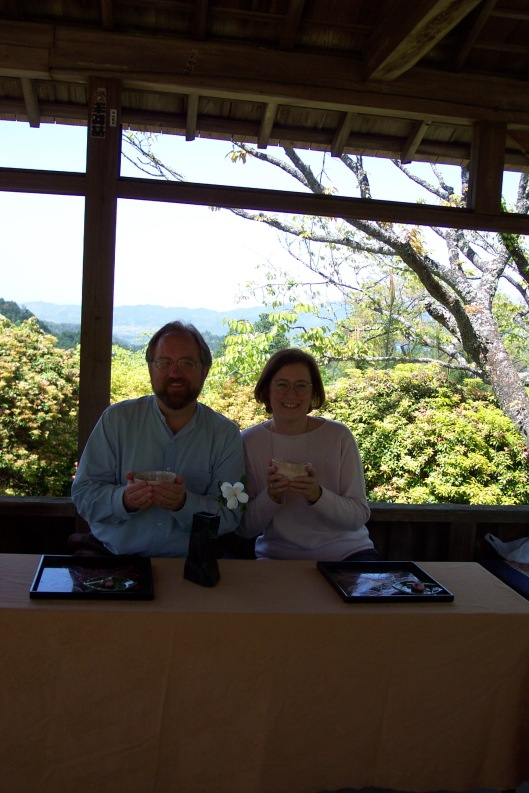 Tea ceremony at Mt. Yoshino.