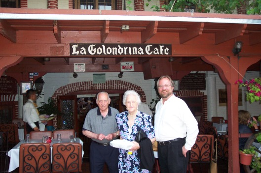 With my parents for their 60th wedding anniversary on Olvera St. where they use to go on dates long, long ago.
