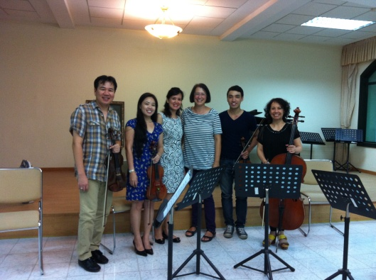 Song Hong Ensemble with Jan after a great session.