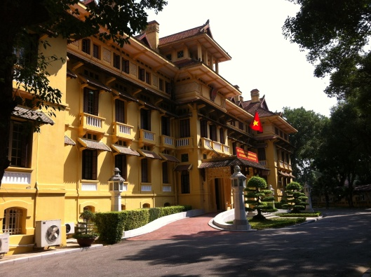 One of the many French era buildings on Dien Bien Phu Street in Hanoi.