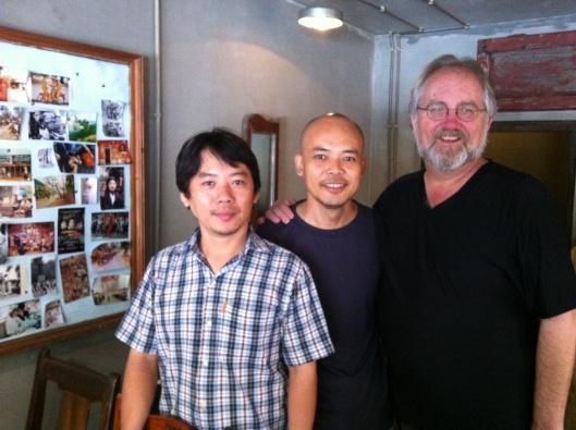 Cuong, Tan and me at Cong CaPhe.