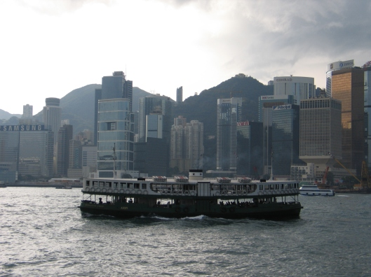 The Star Ferry in Hong Kong.