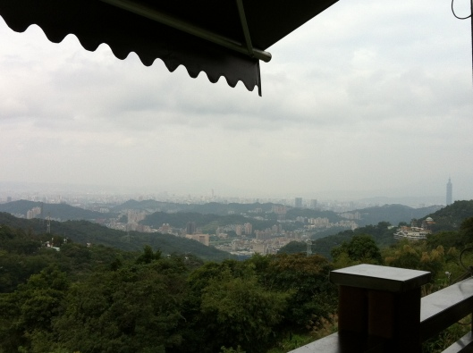 Taipei from the tea hills surrounding the city.