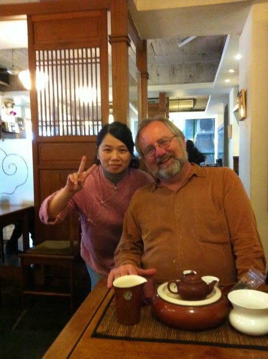 With my De Ye Cha Chi tea teacher in Taipei.
