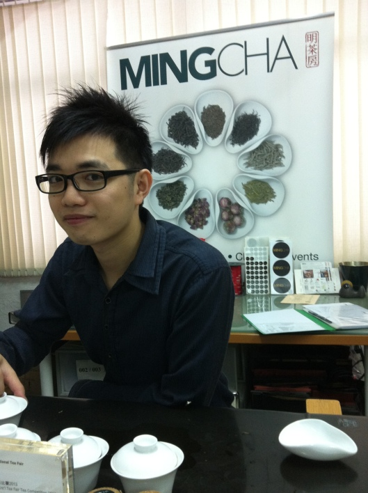 Tea guru Alan at Ming Cha Tea in Hong Kong.