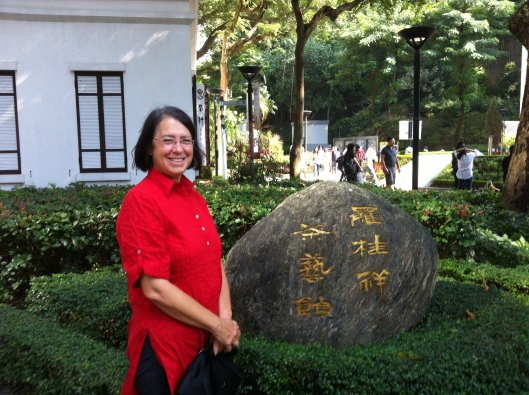 Jan at Lock Cha Tea House in Hong Kong Park.