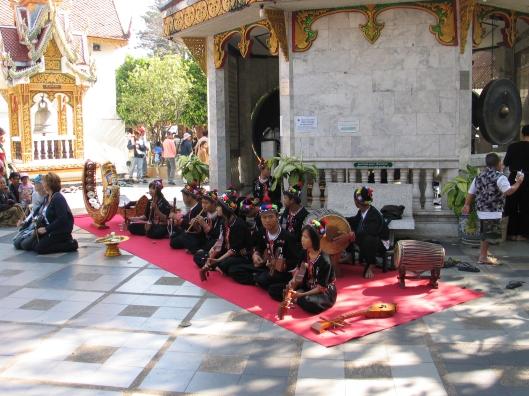 Mohori Thai musicians greet us at entrance.
