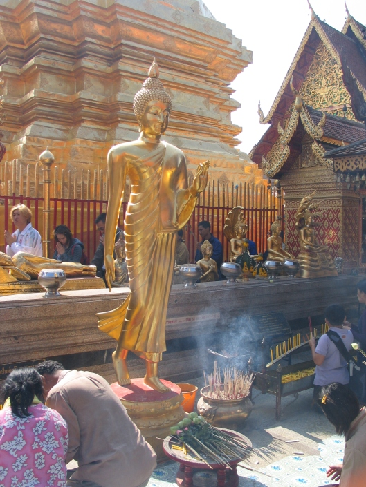 Incense and prayers for tsunami victims