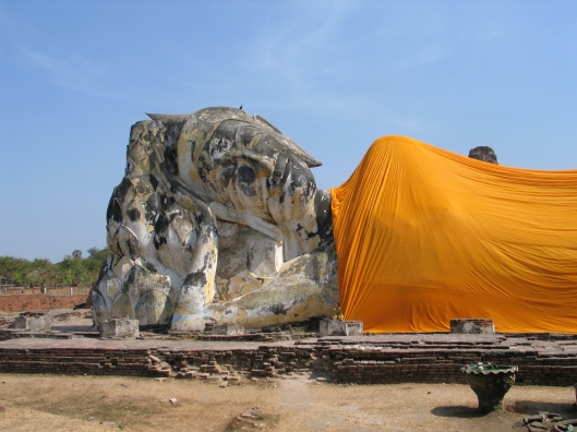 Reclining Buddha in Ayutthaya, Thailand.