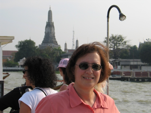 Jan on the Chao Praya River in Bangkok.