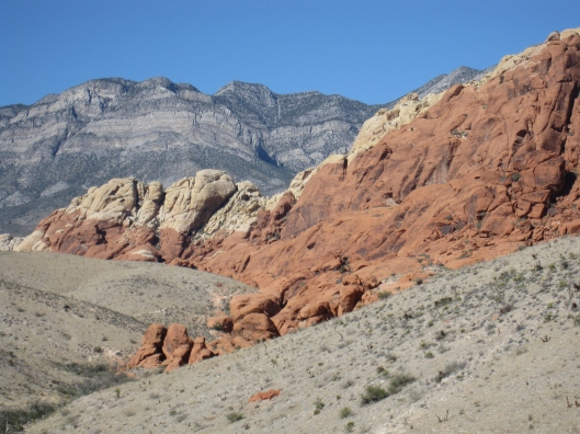 Not what you were expecting? The Red Rock Canyons not far from the Strip.