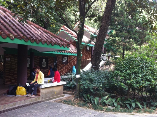 A meditation zone in Kowloon Park, Hong Kong.