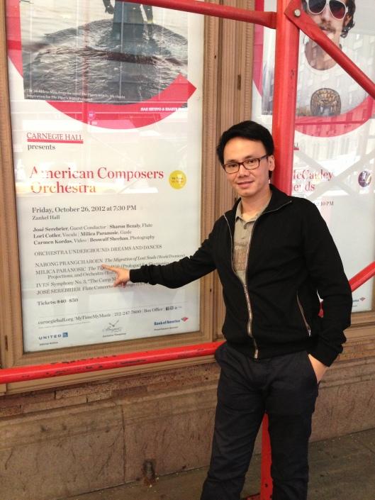 Narong at Carnegie Hall.