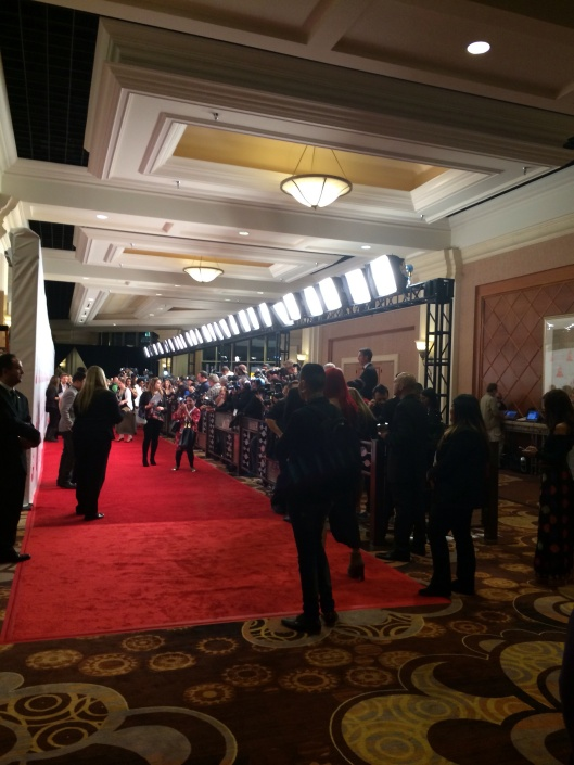 The Latin Grammy press line.