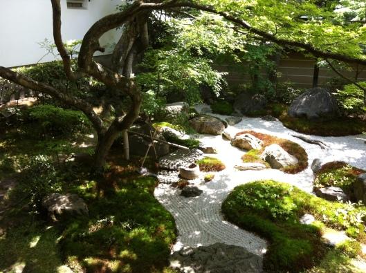 A Zen garden at Eikando Temple in Kyoto.