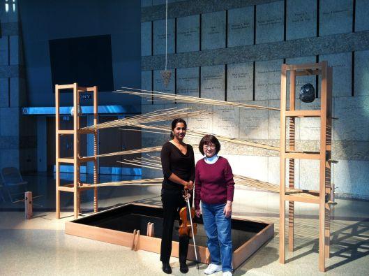 As Zen as it gets: Shalini & Mineko preparing Cage.