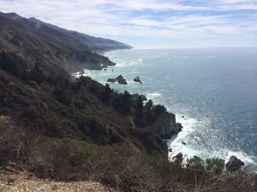 Take tie to look back at Big Sur.