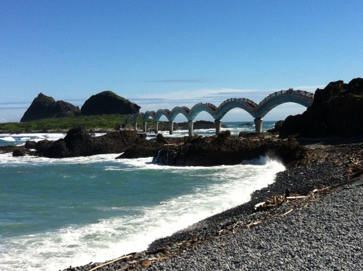 Sanxiantai, the Dragon Bridge of Taiwan's coast highway.