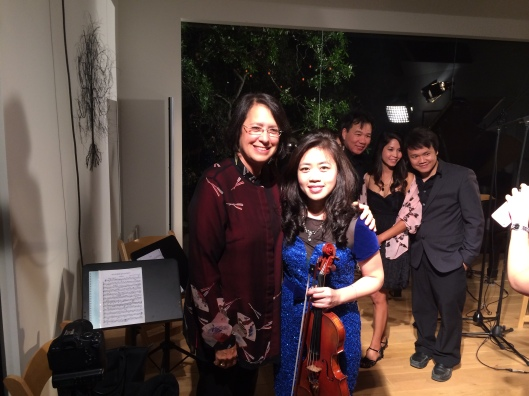 Smiles need no translation as Jan and To Trinh celebrate a great performance.
