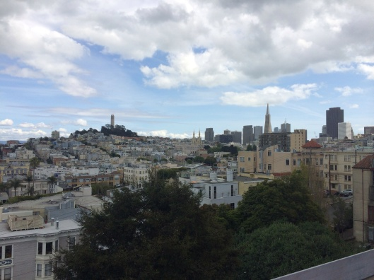 Coit Tower and North Beach from the San Francisco Art Institute.