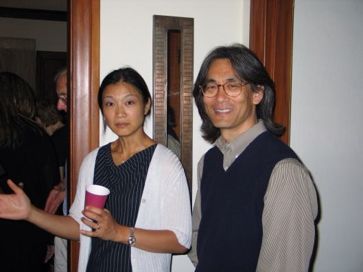 Kent and his wife Mari Kodama at Jan's 50th birthday party in Pasadena.
