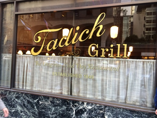 "The ""Cold Day"" restaurant is Tadich Grill."