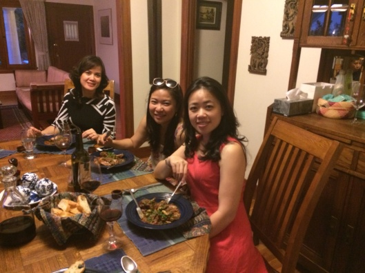 Happy Hanoi guests welcomed to LA with our coq au zin!