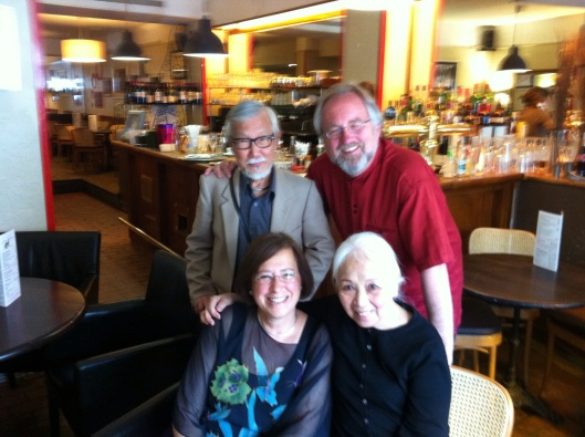 Jan and me with Ton That Tiet and his wife in a Paris cafe next to IRCAM.