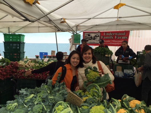 Got romanesco? Phan Thi To Trinh and Quynh Trang Phamat at Underwood Farms at the Hollywood Farmers Market.