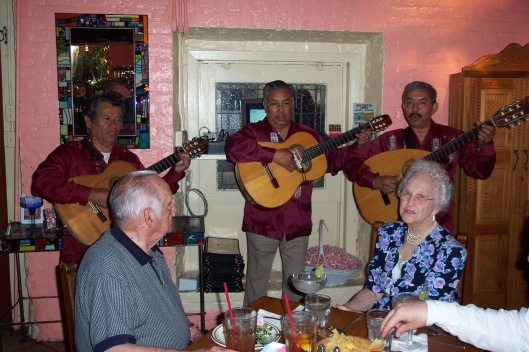 My parents return to an old dating spot on Olvers St. at La Golondrina for their 60th anniversary