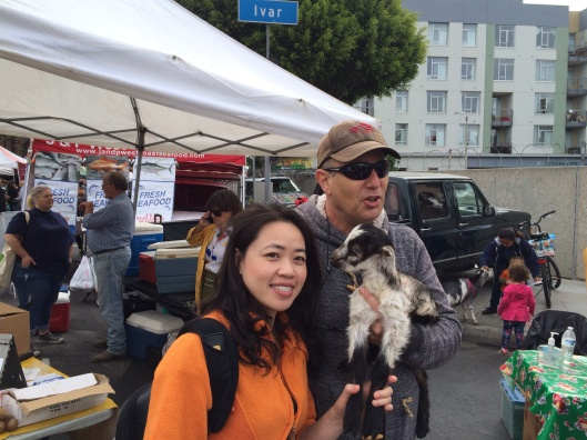 Phan Thi to Trinh with one of my animal relatives from Soledad Farms.