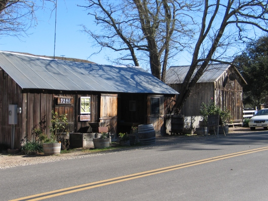 The old barn of Foxen Winery is still open.
