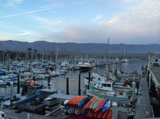 Santa Barbara sunset at Brophy's in the Marina.