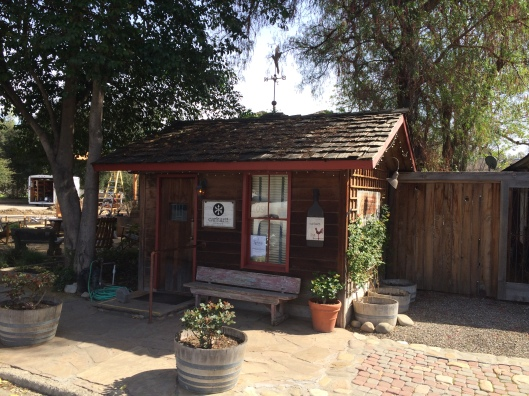 Carhart's charming and tiny tasting room.