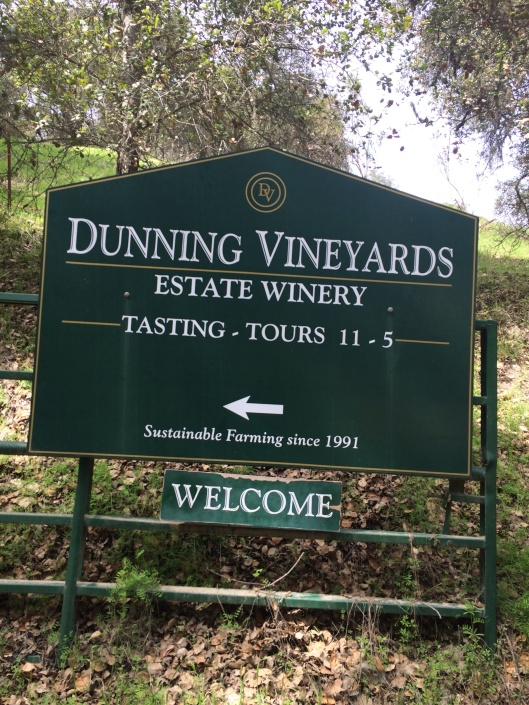At the end of Niderer Road is Dunning Vineyeards.