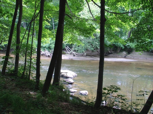 One Place in New England, a path on the Housatonic at Stockbridge.
